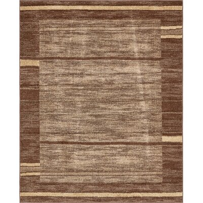 Bryan Stain-resistant Brown Area Rug Rug Size: Rectangle 8 x 10