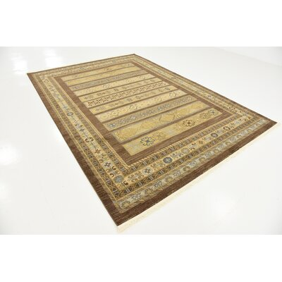 Foret Noire Brown Area Rug Rug Size: 7 x 10