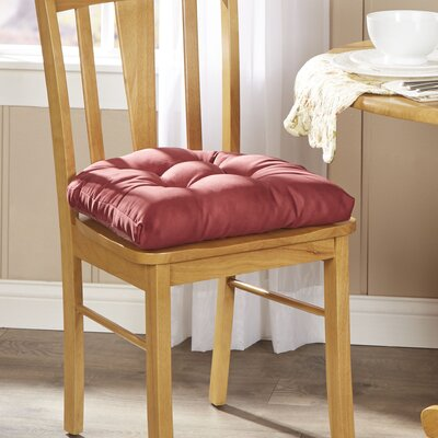 Wayfair Basics Chair Cushion Fabric: Red