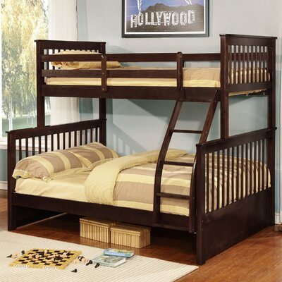Kelli Over Full Bunk Panel Bed Finish: Espresso