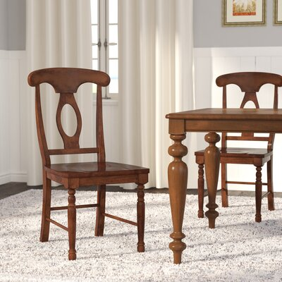 Claysburg Corell Park Solid Wood Dining Chair (Set of 2) Color: Derby Brown