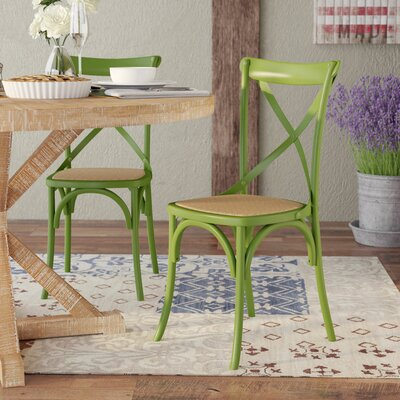 Vanhook Side Chair Color: Muted Green