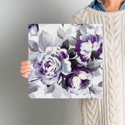 Scent of Plum Roses III Painting Print on Wrapped Canvas Size: 12