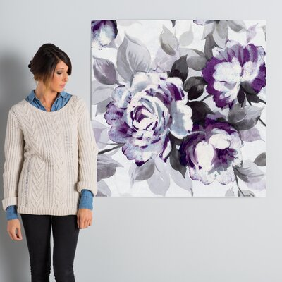 Scent of Plum Roses III Painting Print on Wrapped Canvas Size: 37