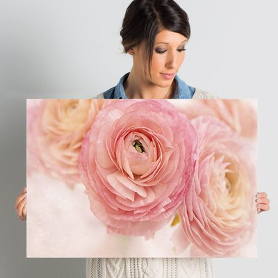 Stylish Flowers Photographic Print on Wrapped Canvas Size: 24