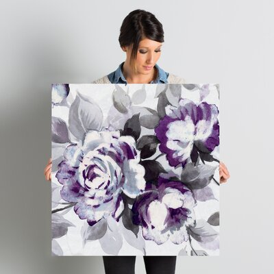 Scent of Plum Roses III Painting Print on Wrapped Canvas Size: 26