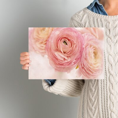 Stylish Flowers Photographic Print on Wrapped Canvas Size: 08'' x 12''