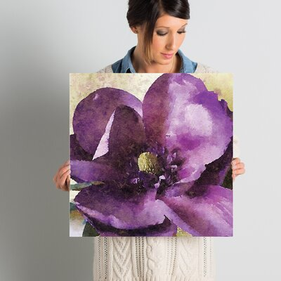 Purple Spring Rhapsody Painting Print on Wrapped Canvas Size: 18