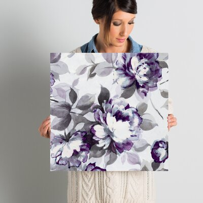 Scent of Plum Roses II Painting Print on Wrapped Canvas Size: 18