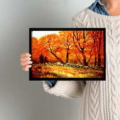 Autumn Blaze Framed Painting Print Size: 8