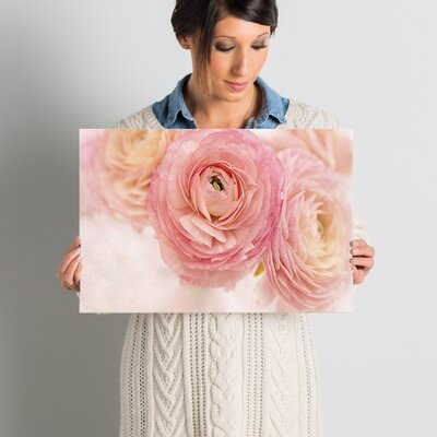 Stylish Flowers Photographic Print on Wrapped Canvas Size: 16