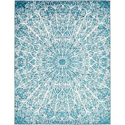 Keswick Turquoise Area Rug Rug Size: 9 x 12