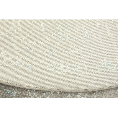 Sherrill Light Gray Area Rug Rug Size: Round 8