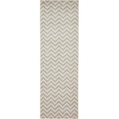 Wistow Gray/Beige Area Rug Rug Size: Runner 27 x 8