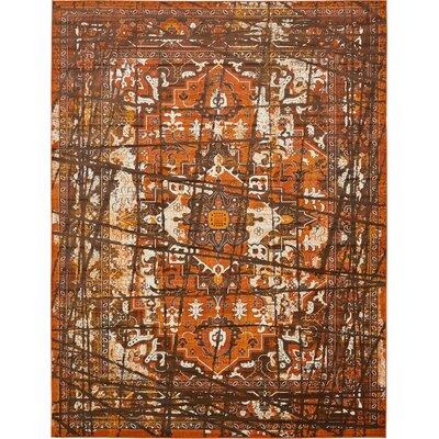 Yareli Brown/Terracotta Area Rug Rug Size: Rectangle 2 x 3