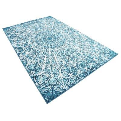 Keswick Turquoise Area Rug Rug Size: Rectangle 5 x 8