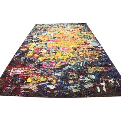 Fujii Pink/Yellow Area Rug Rug Size: 7 x 10
