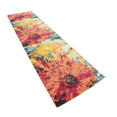 Roshan Orange Area Rug Rug Size: Runner 27 x 10