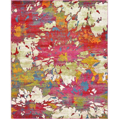 Elvia Pink Area Rug Rug Size: Rectangle 9 x 12