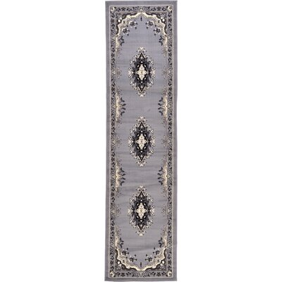 Charlie Gray Area Rug Rug Size: Runner 22 x 82