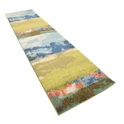 Fujii Blue Area Rug Rug Size: Runner 27 x 10