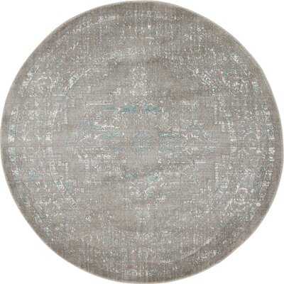 Wilton Light Gray Area Rug Rug Size: Round 8