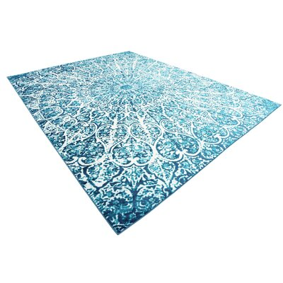 Keswick Turquoise Area Rug Rug Size: Rectangle 9 x 12