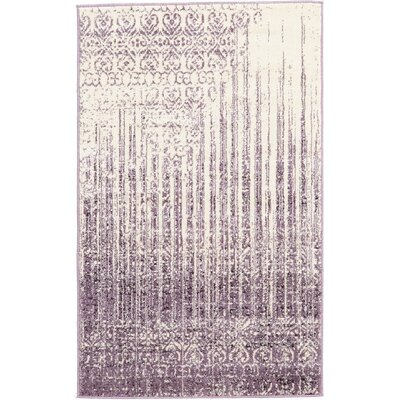 Ronit Purple Area Rug Rug Size: 33 x 53
