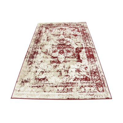 Brandt Red Area Rug Rug Size: Rectangle 4 x 6