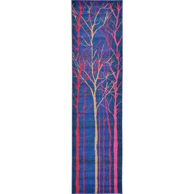 Roshan Blue Area Rug Rug Size: Runner 27 x 10