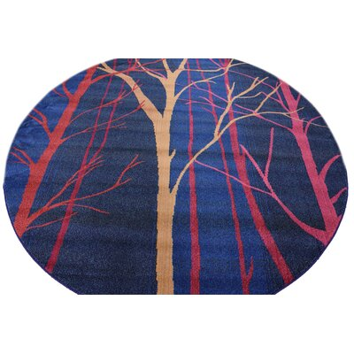 Roshan Blue Area Rug Rug Size: Rectangle 106 x 165