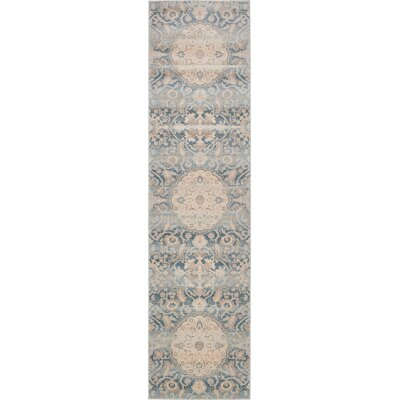 Mellal Blue Area Rug Rug Size: Rectangle 3 x 10