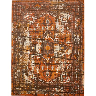 Yareli Brown/Terracotta Area Rug Rug Size: Runner 2 x 6