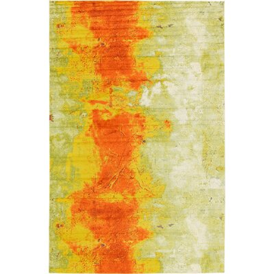 Fujii Yellow/Orange Area Rug Rug Size: Rectangle 33 x 53