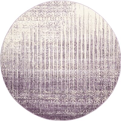 Ronit Purple Area Rug Rug Size: Round 8