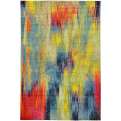 Elvia Red/Navy Blue Area Rug Rug Size: Rectangle 9 x 12