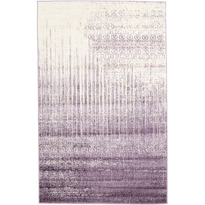 Ronit Purple Area Rug Rug Size: 5 x 8