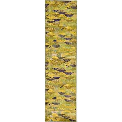 Roshan Green Area Rug Rug Size: Runner 27 x 10