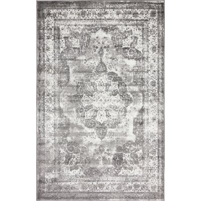 Brandt Gray Area Rug Rug Size: Rectangle 5 x 8