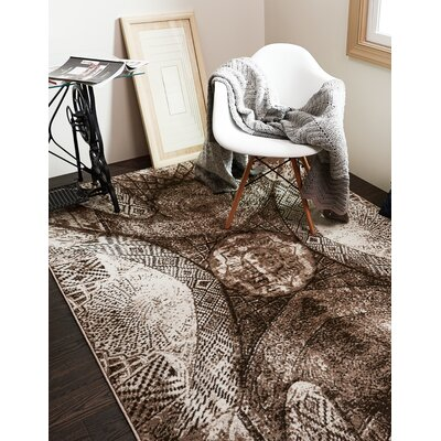 Ford Brown Area Rug Rug Size: Rectangle 4 x 6