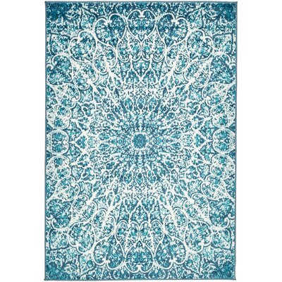 Keswick Turquoise Area Rug Rug Size: Rectangle 4 x 6