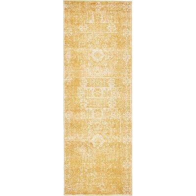 Delgado Yellow Area Rug Rug Size: Runner 22 x 6
