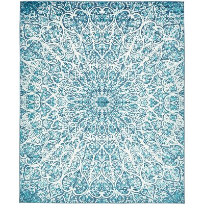 Keswick Turquoise Area Rug Rug Size: 8 x 10