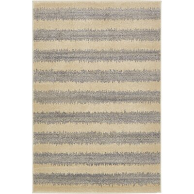 Annisville Gray Area Rug Rug Size: 5 x 8