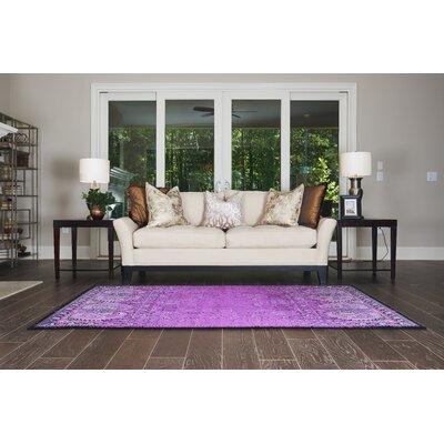 Yareli Lilac/Black Area Rug Rug Size: 7 x 10