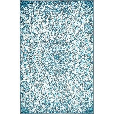 Keswick Turquoise Area Rug Rug Size: 5 x 8
