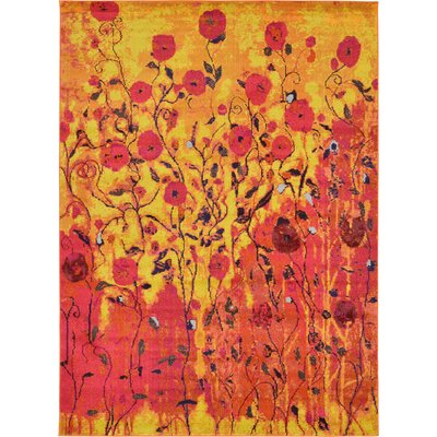 Roshan Orange Area Rug Rug Size: 8 x 11
