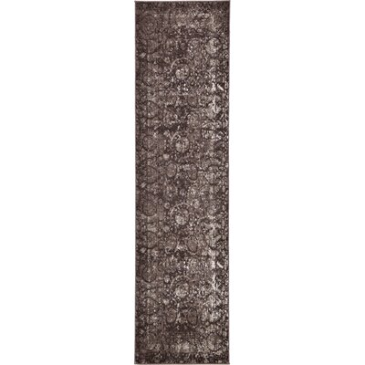 Kelaa Brown Area Rug Rug Size: Runner 27 x 10