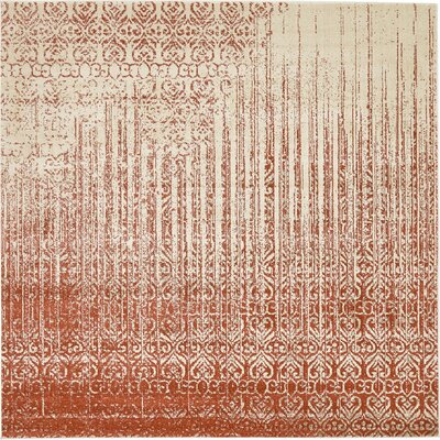 Raphael Red Area Rug Rug Size: Square 8