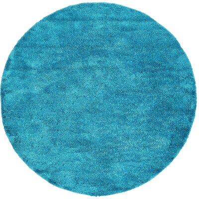 Truett Turquoise Area Rug Rug Size: Round 8